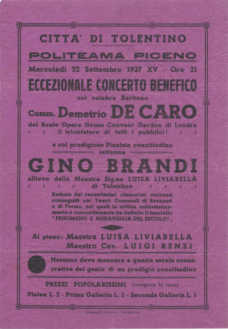 Locandina - Gino Brandi