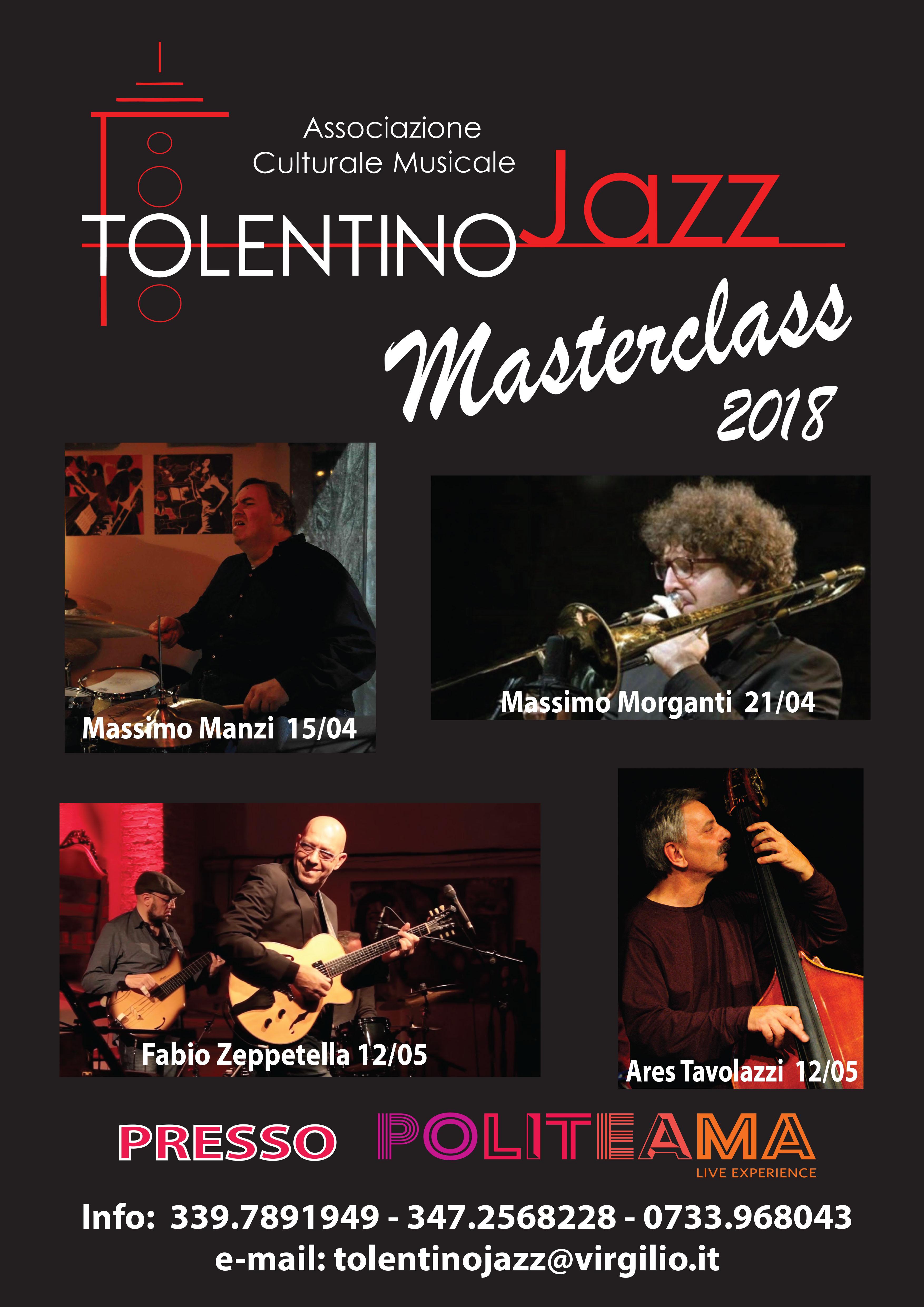 Locandina - Masterclass di trombone, tromba e musica d'insieme con Massimo Morganti – TolentinoJAZZ